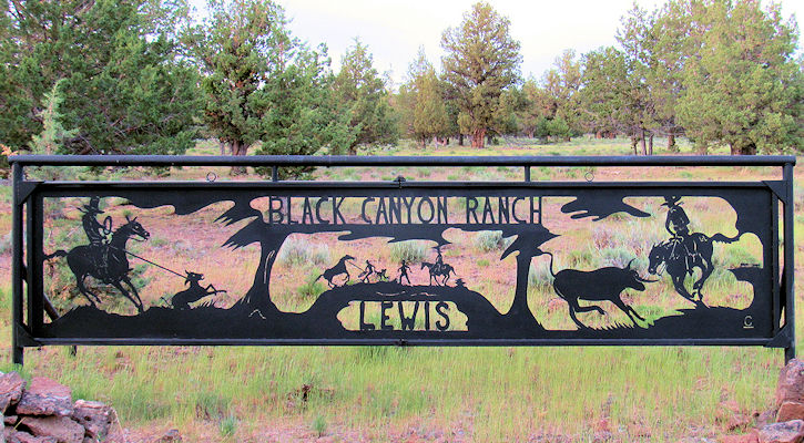 Black Canyon Ranch Farm Sign